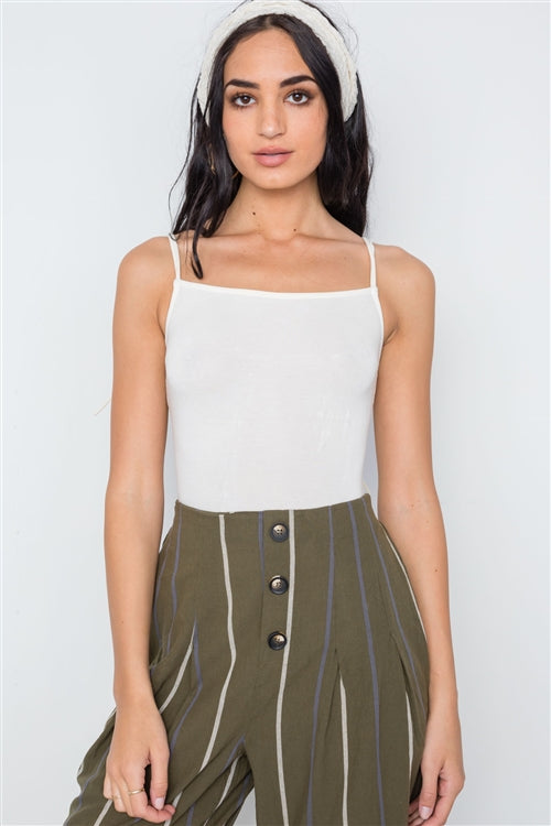 All Tied Up Cami Bodysuit (Off White)