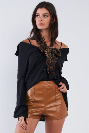 Risky Business Off the Shoulder Shirt (Black)