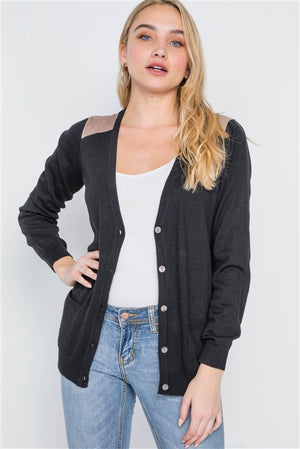 Bookworm Button Cardigan (Black)
