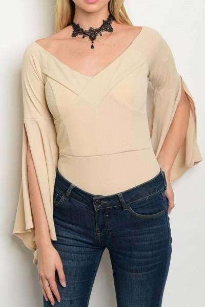 EVER AFTER PANELED FLOWY BODYSUIT