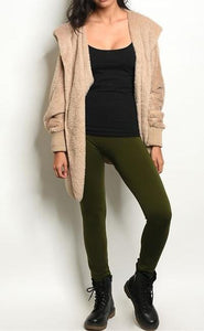 COZY VIBES FLEECE LINED LEGGINGS (OLIVE)