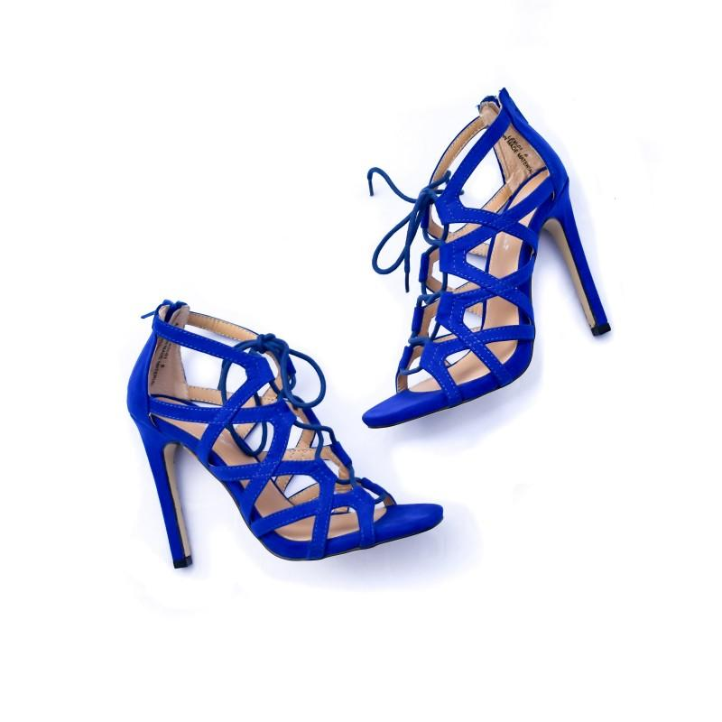 Lexi Strappy Heel (Royal Blue)