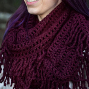 LATTICE TASSEL INFINITY SCARF