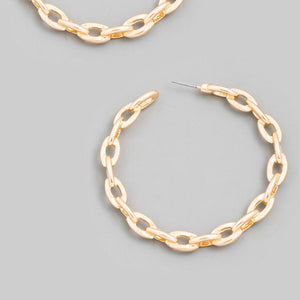Chain Me Up Hoops (Gold)