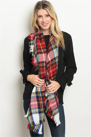 Fireside Plaid Scarf (Pink)