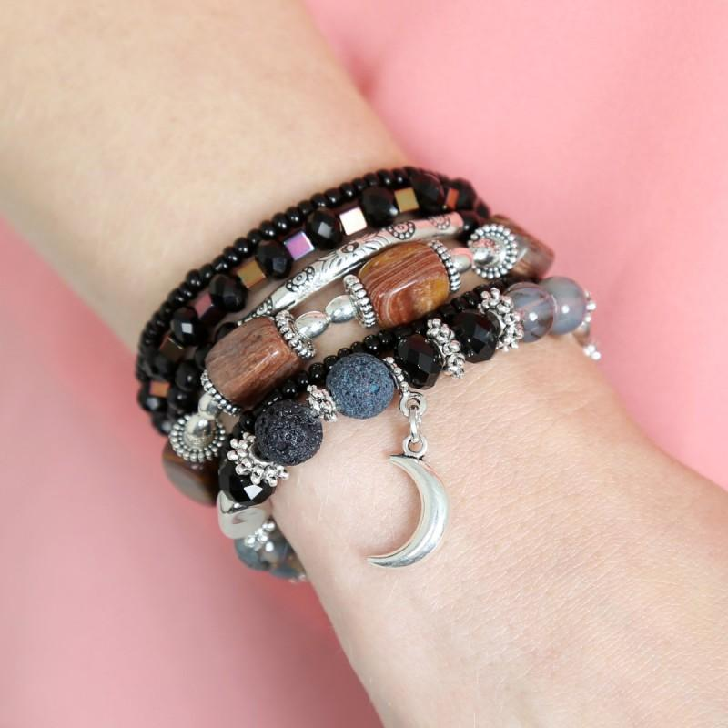 CRESCENT MOON BRACELET STACK SET
