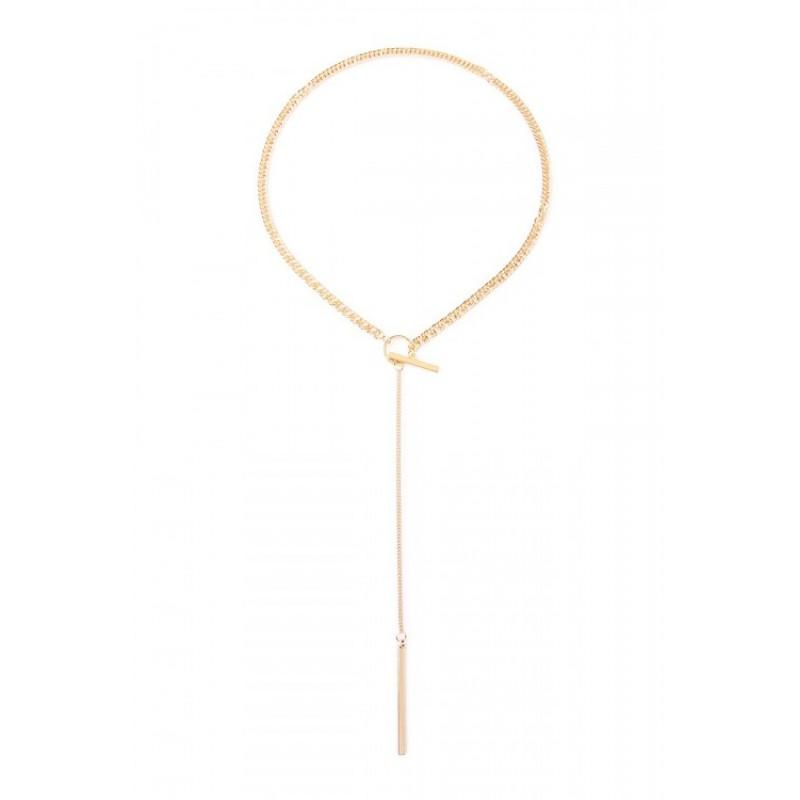 LARIAT DROP NECKLACE (GOLD)