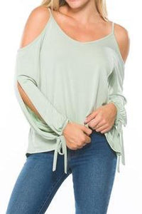 Cold Shoulder Cut-Out Blouse