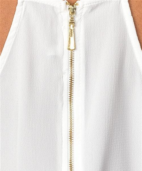 Cut-Out Flowy Sleeveless Blouse