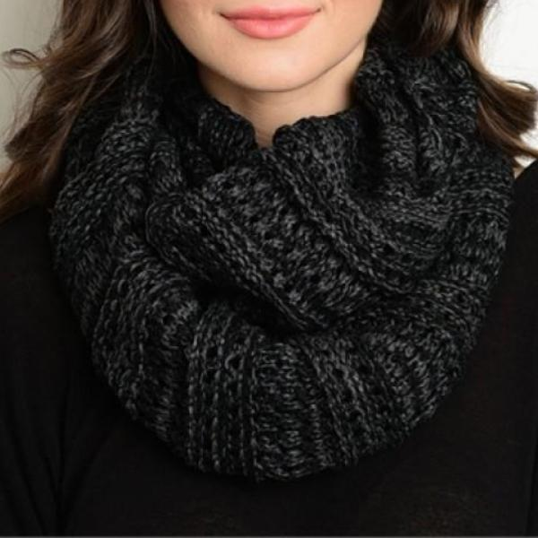 Smoky Winter Infinity Scarf