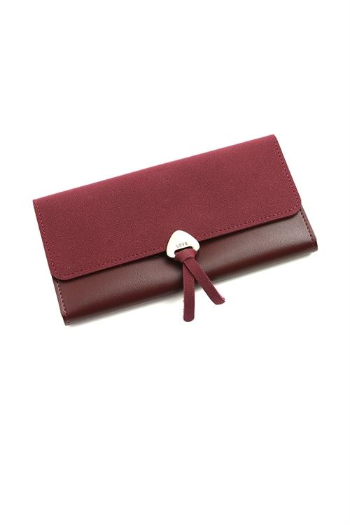 NEW LOVE LEATHER WALLET (WINE)