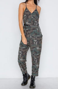 Soldier On Camo Pocketed Jumpsuit