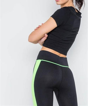 Gym Vibes Neon Green Capri Workout Leggings