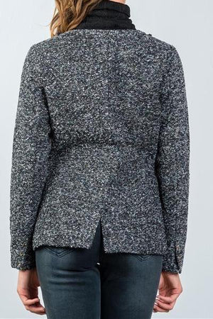 Embellished Woolen Tweed Blazer