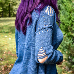 Cool Days Edgy Distressed Sweater