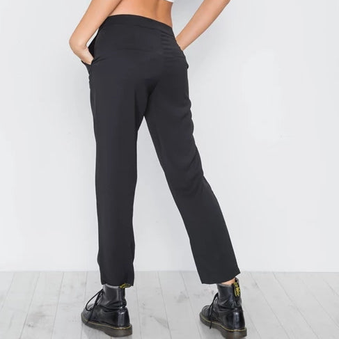 Office Couture Crop Black Pants