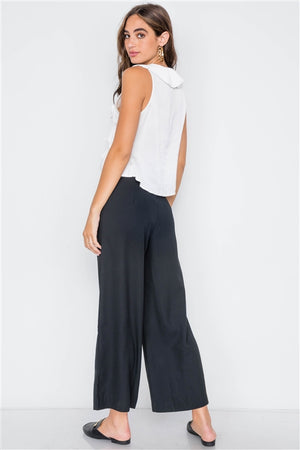 Truly Chic Black Wide Leg Relaxed Pants