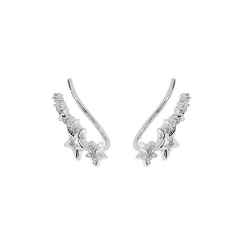 Seeing Stars Crawler Earrings (Silver)
