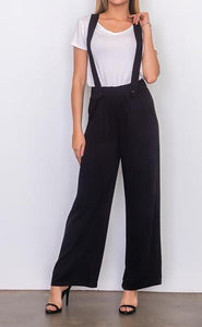 BLAIR BLACK SUSPENDER WOVEN PANTS