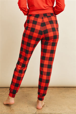 Fireside Red Buffalo Plaid Loungewear Pajama Set