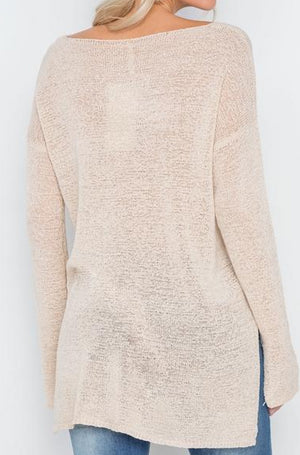 Hollywood Lightweight Knit Sweater (Linen)