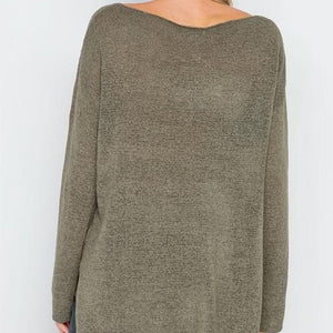 Hollywood Lightweight Knit Sweater (Olive)