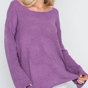 Hollywood Lightweight Knit Sweater (Purple Haze)