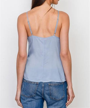FROM A DREAM SIDE TIE TANK TOP in BLUE