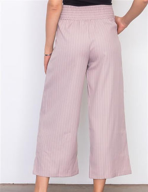 ASTORIA CROPPED FRONT TIE WIDE LEG PANTS
