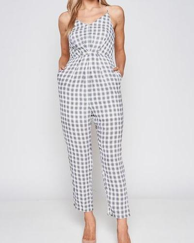 Heather V-Neck Jumpsuit