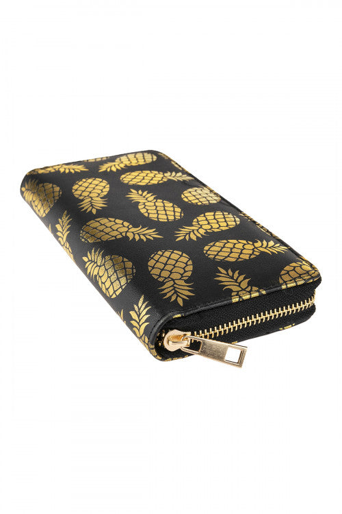 Gold Pineapple Wallet (White)