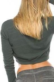 DISTRESSED SWEATER CROP TOP