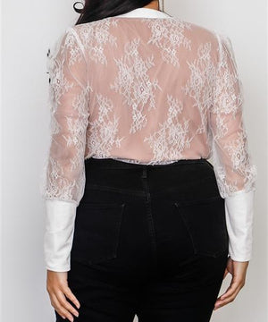 TRUE LOVE LACE PLUS SIZE BODYSUIT