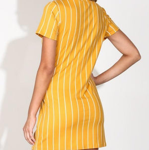 Jessi Striped Front Tie Mini Dress