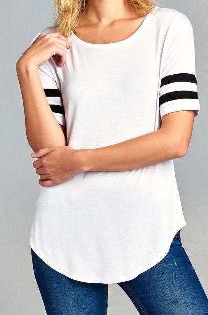 Basic Double Stripe Soft Tee