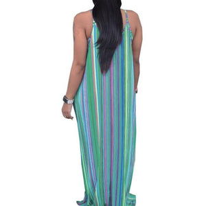 Open image in slideshow, Blue-Green Striped (Plus Size Only)