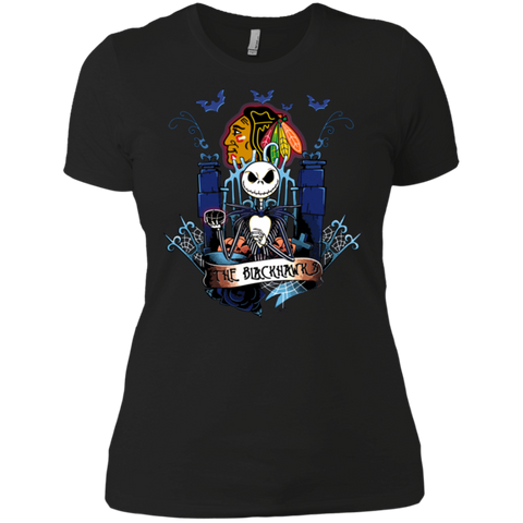 unbelievable chicago blackhawks halloween the nightmare before christmas shirts t shirt for women x