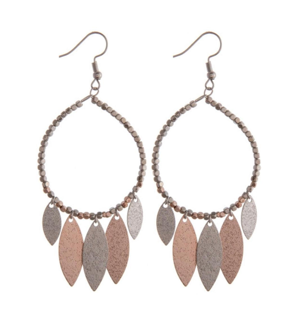Two Tone Accented Earrings