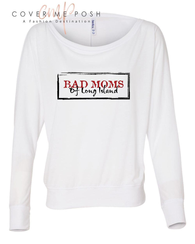 Bad Moms Slouchy (Classic Logo) White