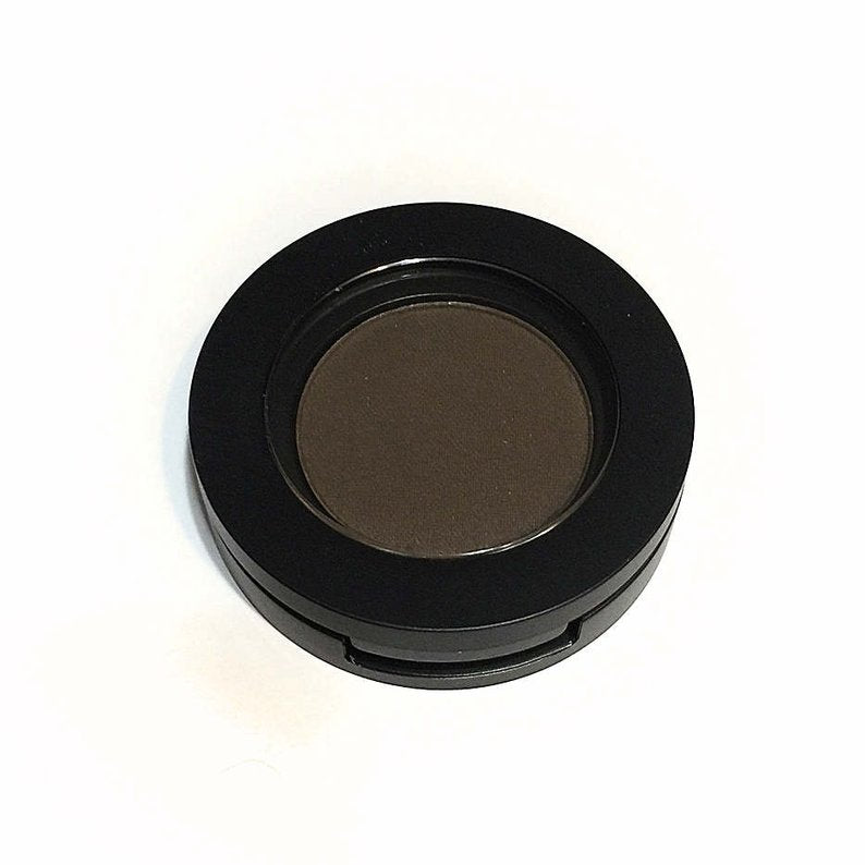 Organic Pressed Mineral Eyebrow Powder- Fudge/Dark Brown