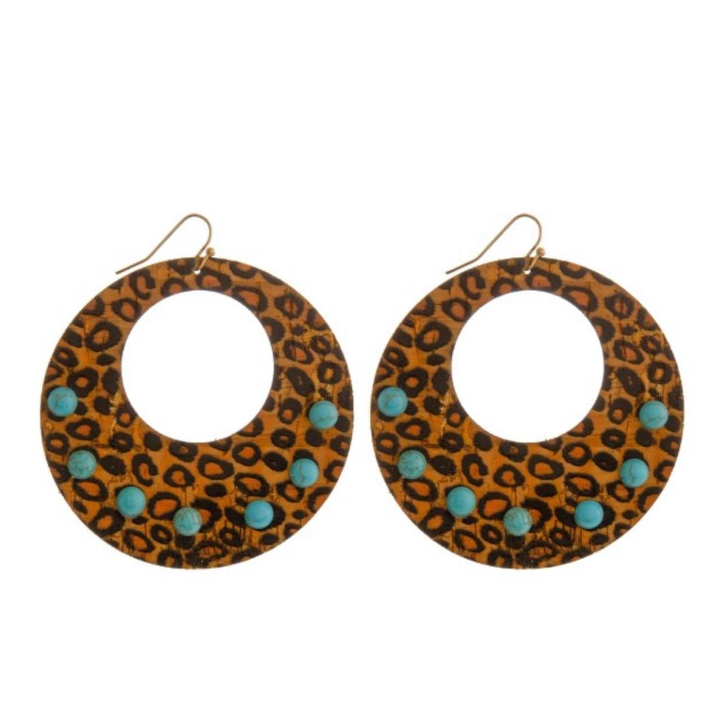 Cheetah Cork Earrings