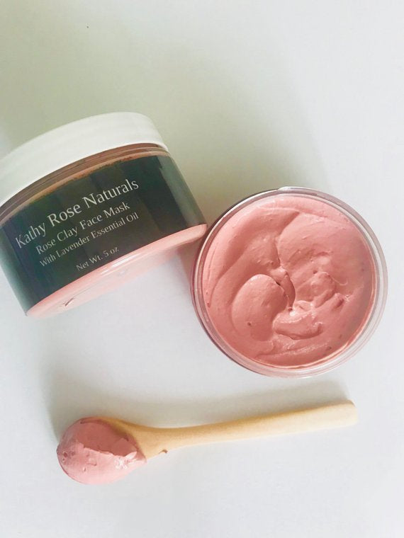 Pink Rose Clay Face Mask