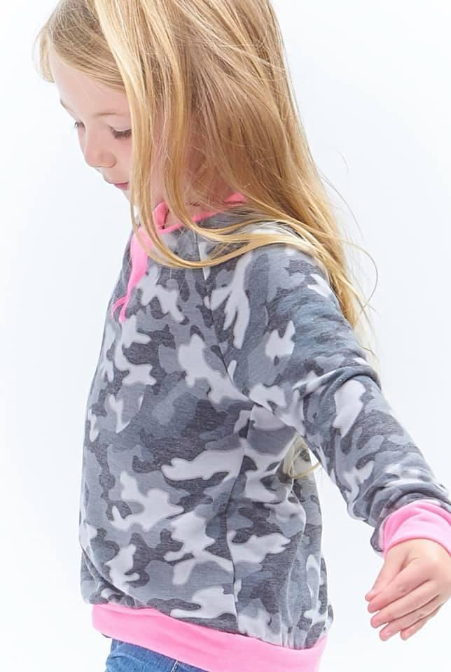 Girls Camo Sweatshirt