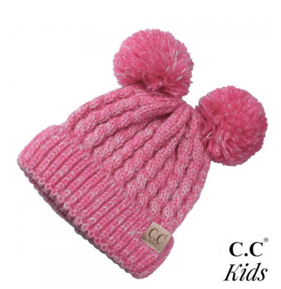 Kids C.C Pom Pom Winter Hat