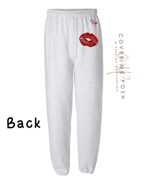 Kiss (Ash Grey) With Regular Print or Glitter