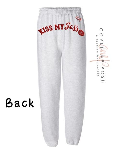 Kiss My Sass (Ash Grey) Regular or Glitter Print