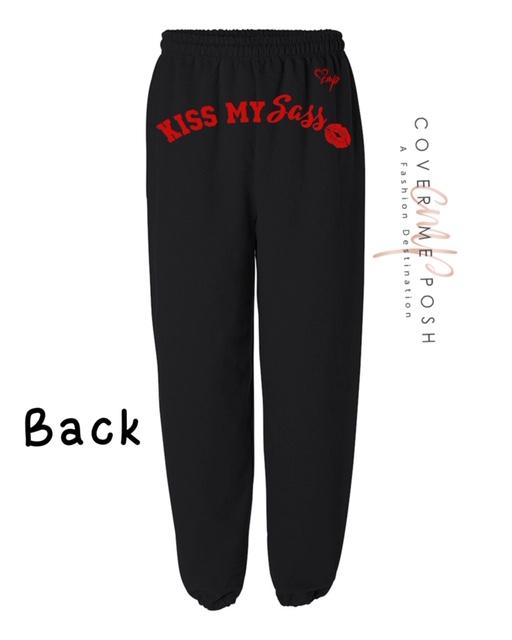 Kiss My Sass (Black) Regular or Glitter