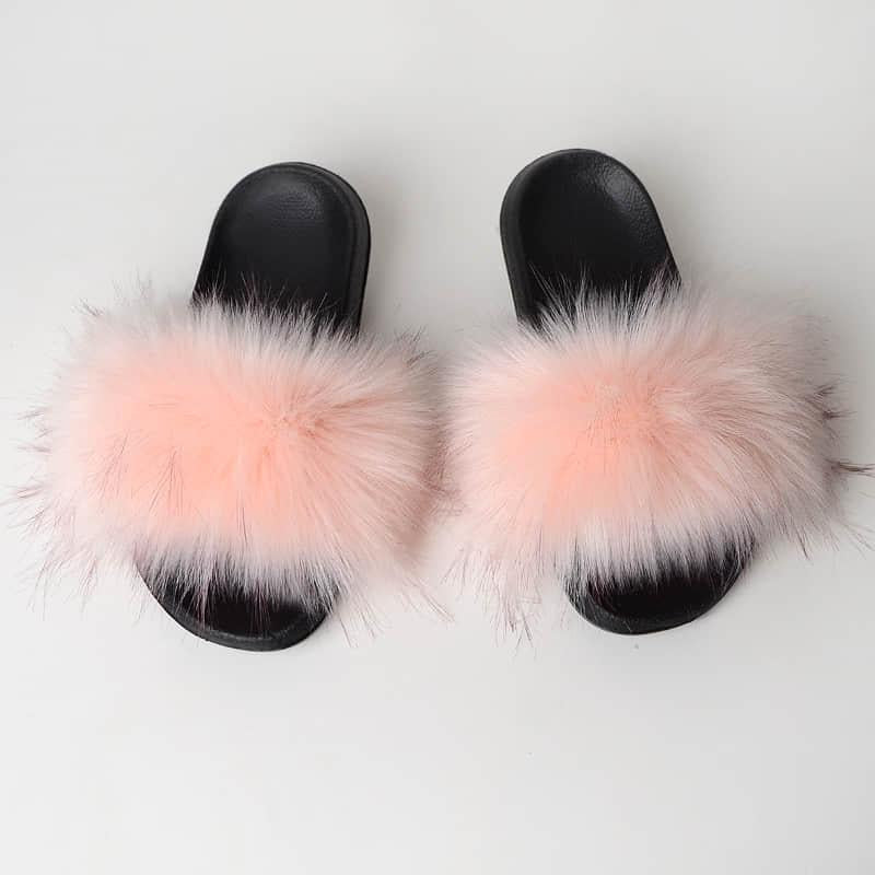 LT Pink Slides (Faux Fur)