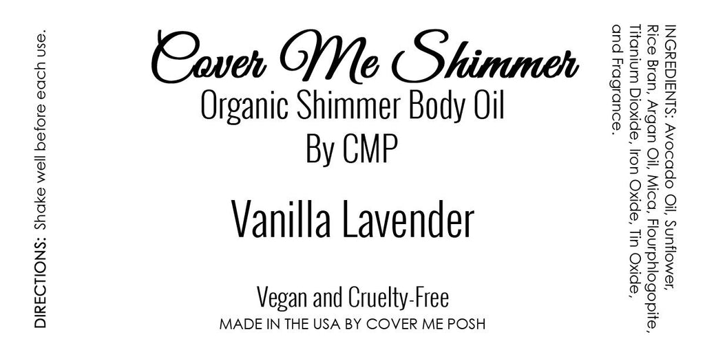 Cover Me Shimmer Organic Body Oil