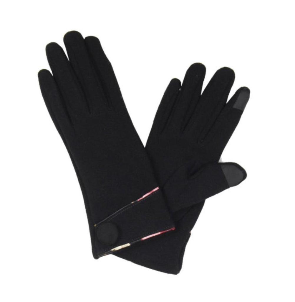 Touchscreen Gloves (black with trim)